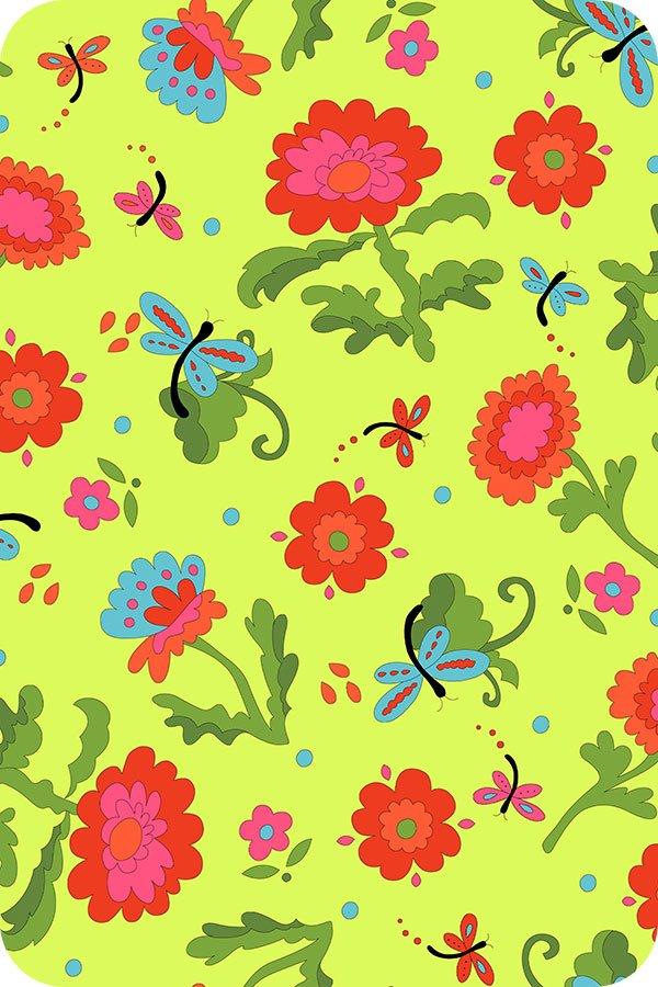 Lagoon Cuddle by Dana Brooks for Shannon Fabrics Wildflower