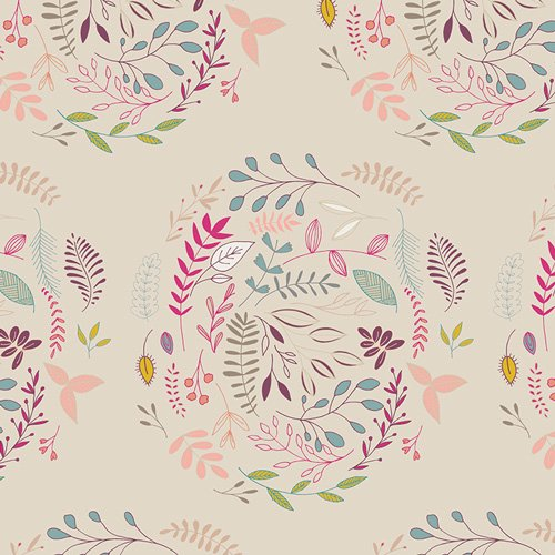 FLO 8125 WREATHED WHIFF FOR FLEET & FLOURISH FABRIC COLLECTION  BY ART GALLERY FABRICS