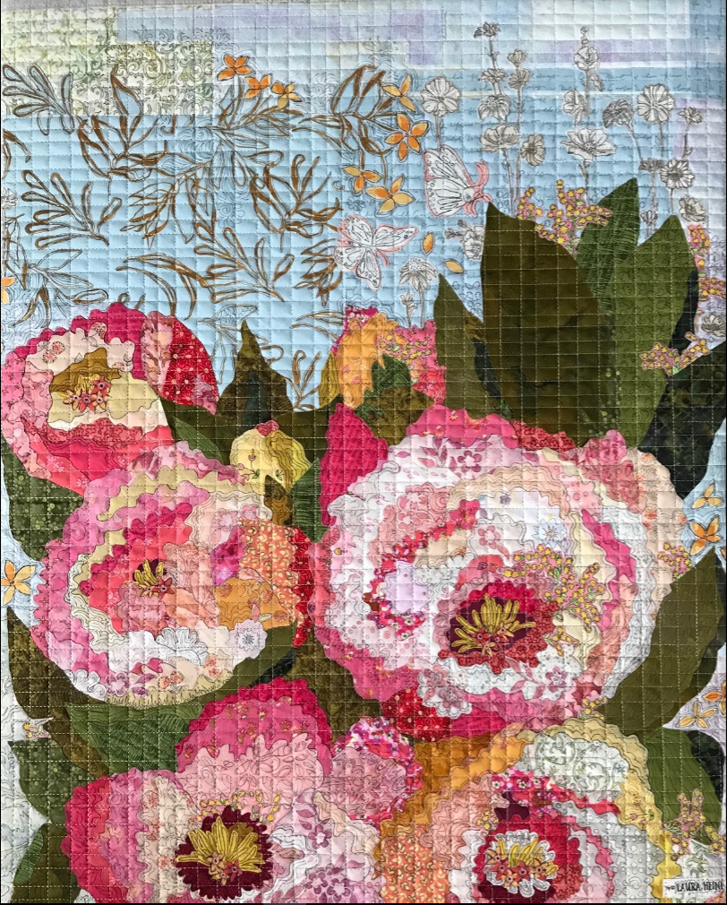 Florology Collage Quilt Kit by Laura Heine.