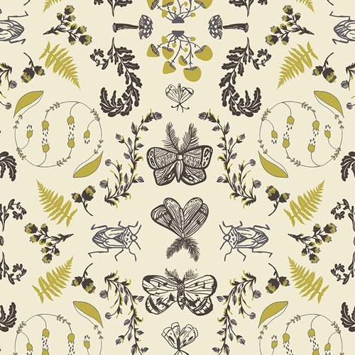 FOR47711 Forest Floor Nature Study Bark by Art Gallery Fabrics