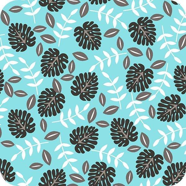 Cuddle Palm Leaf Ash Topaz by Shannon Fabrics 100% Polyester 60