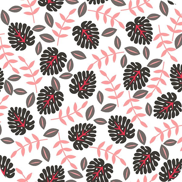 Cuddle Palm Leaf Snow by Shannon Fabrics 100% Polyester 60 Wide