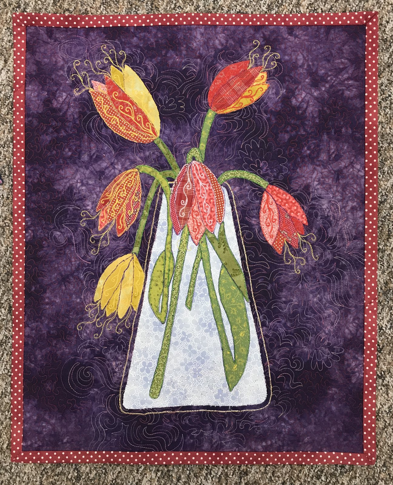Fritillaries Wall Hanging Lauras Destash