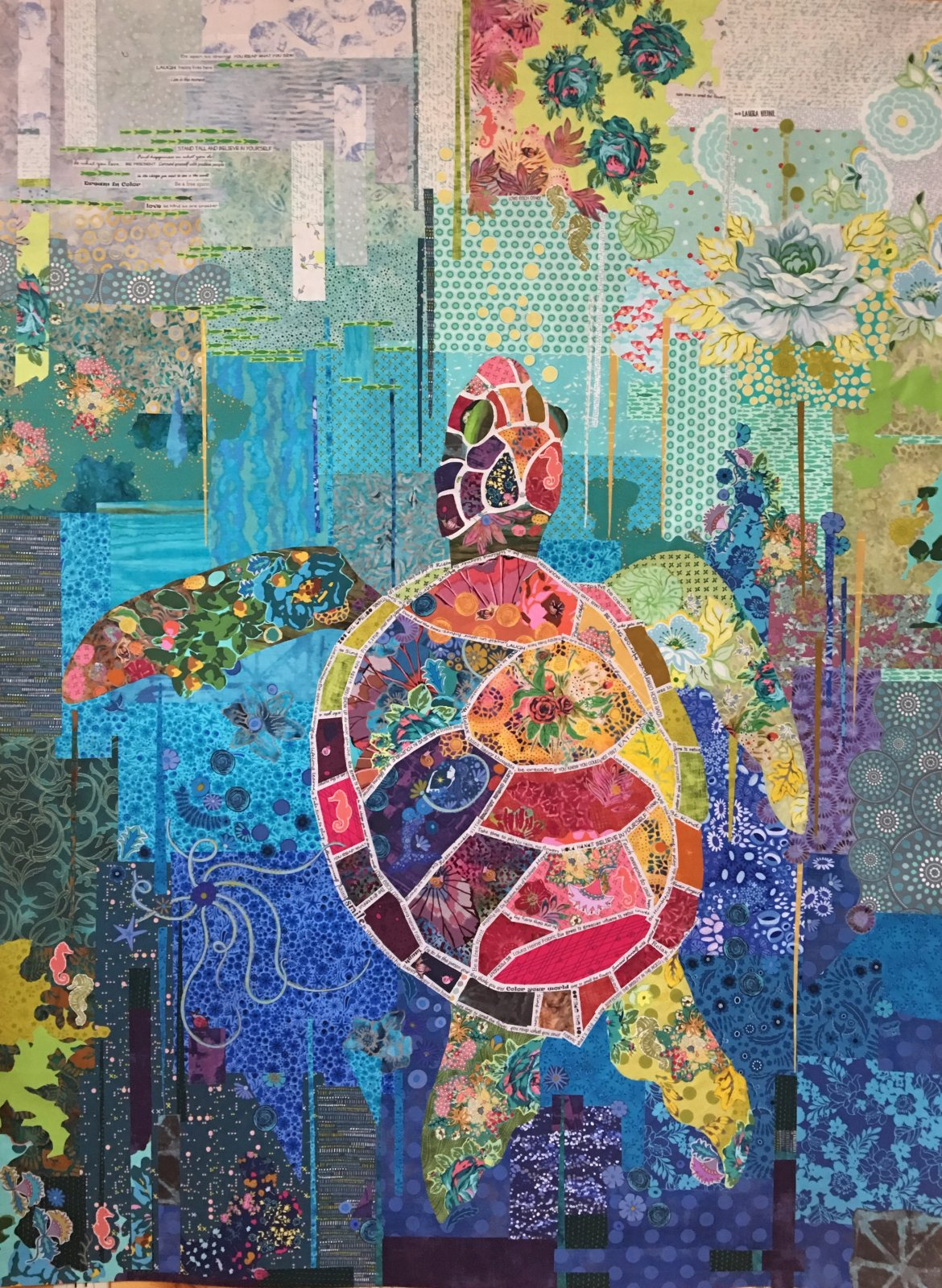 Seawell Collage Sea Turtle Pattern By Laura Heine