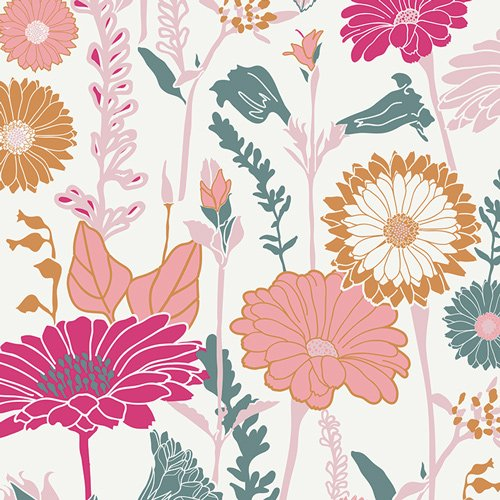 FUS BC 507  FLOWER FIELD  FUSION COLLECTION FOR ART GALLERY FABRICS