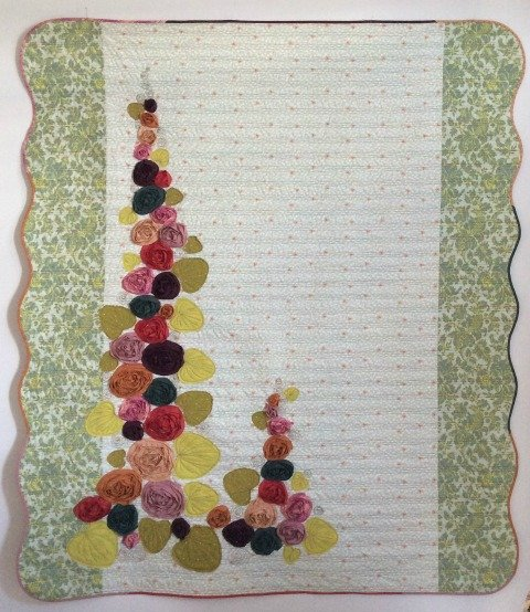 Hollyhock Flowers Pattern by Laura Heine
