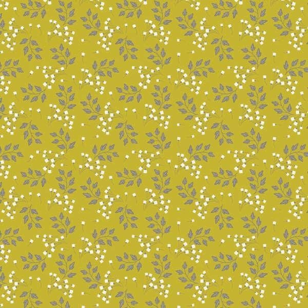 2240206 02 Chartruese Sprigs from Wildflowers by Camelot Fabrics
