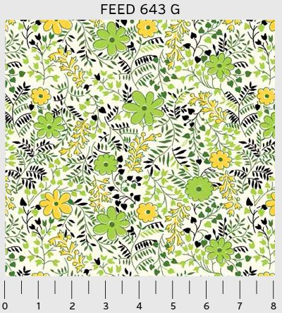 00643 Feedsack by Sara Morgan for Washington Street Studio 100% cotton 44 wide