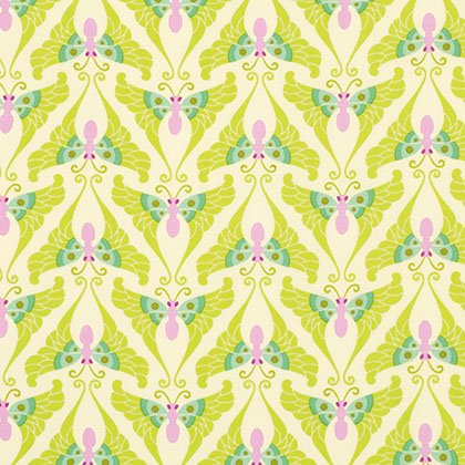 PWHB040 LIME Lottie Da Papillon by Heather Bailey for Free Spirit Fabrics 100% Cotton 44 wide