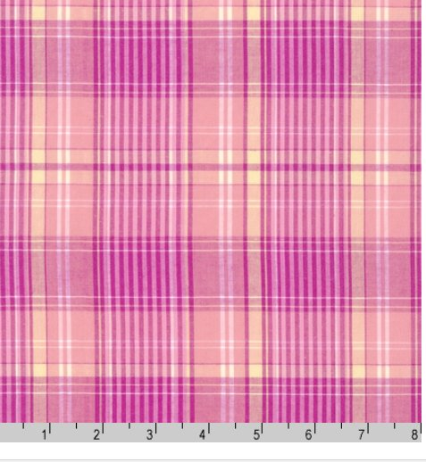 1307310 Newport Plaids Pink by Robert Kaufman 100% cotton 44 wide