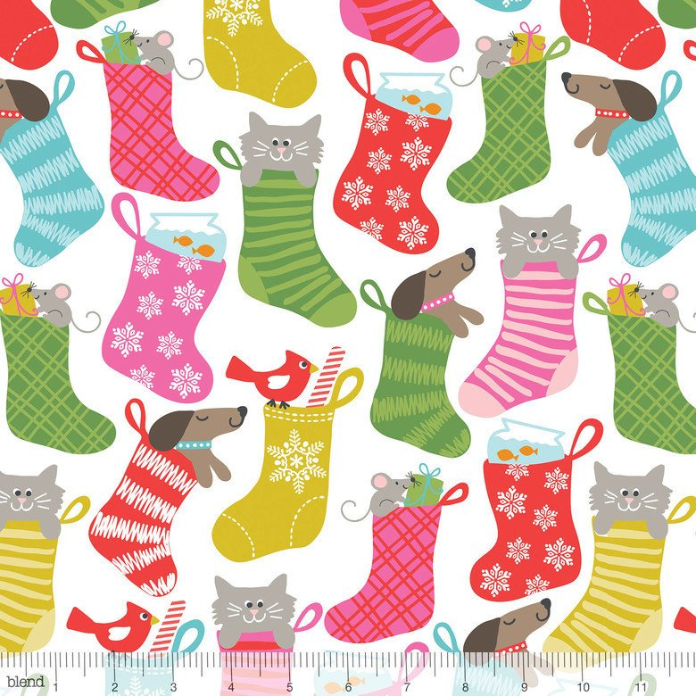 101124012 Stocking Stuffers by Maude Asbury for Blend 100% cotton 44 wide