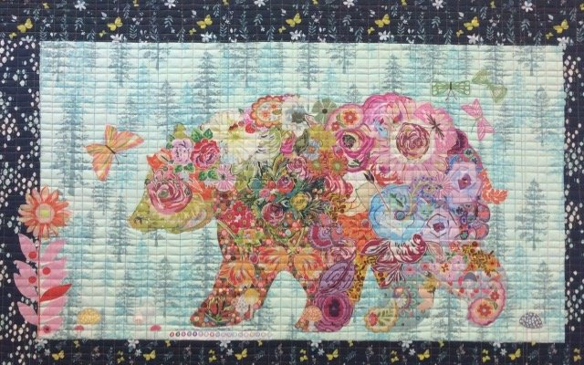 Paisley Bear Floral Collage Kit by Laura Heine