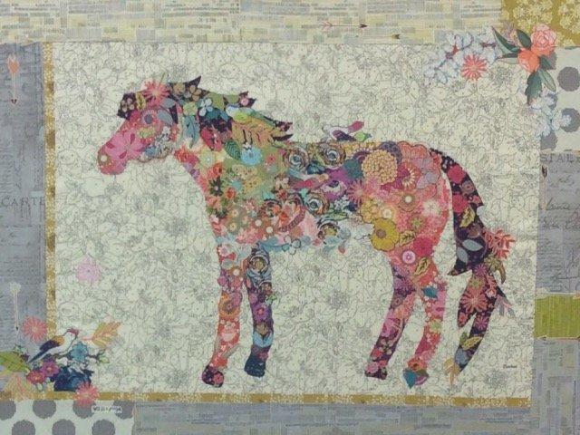 Confetti Horse Collage Quilt Kit : quilt horse - Adamdwight.com