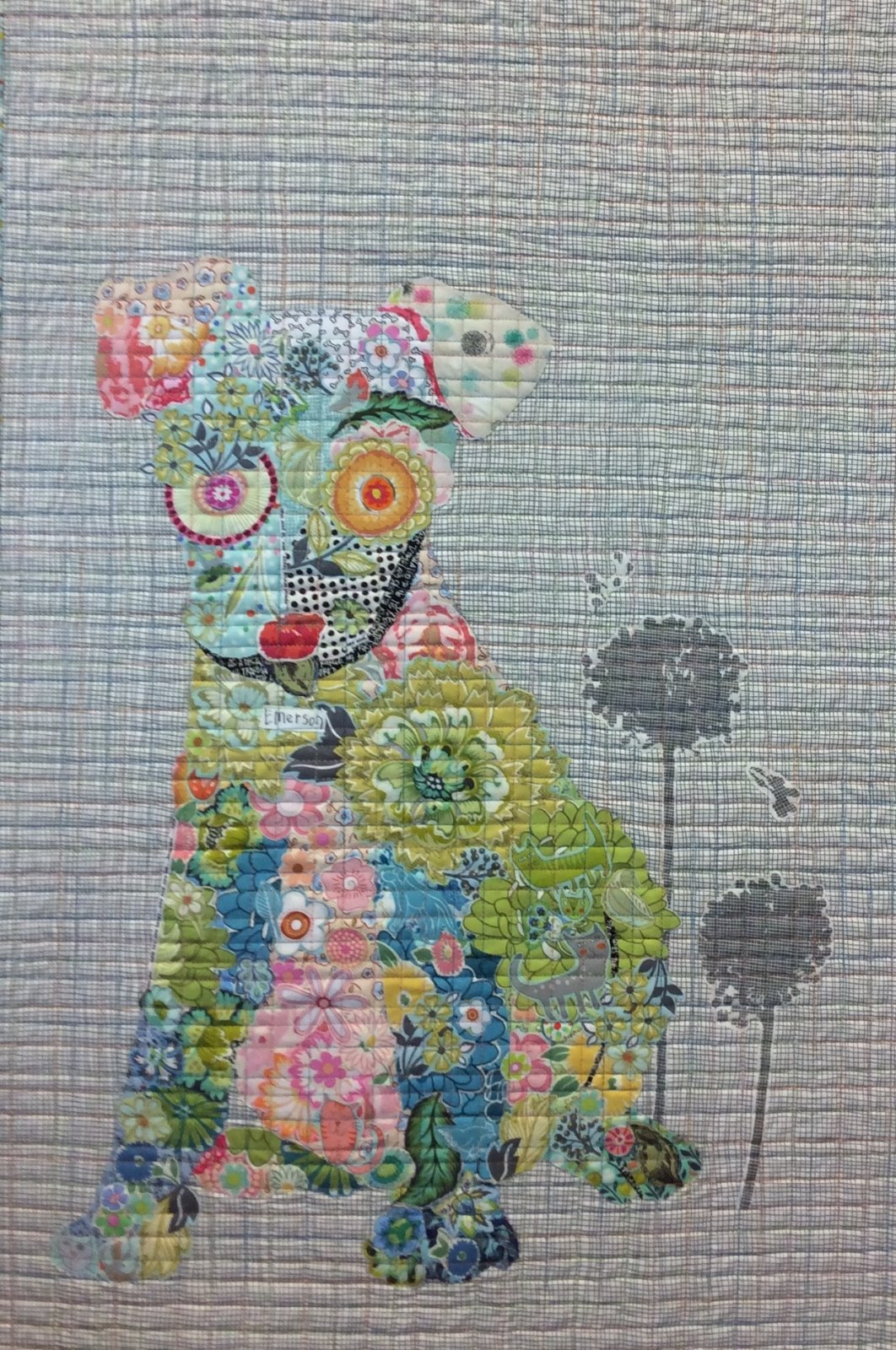 Emerson Puppy Collage Quilt Pattern by Laura Heine