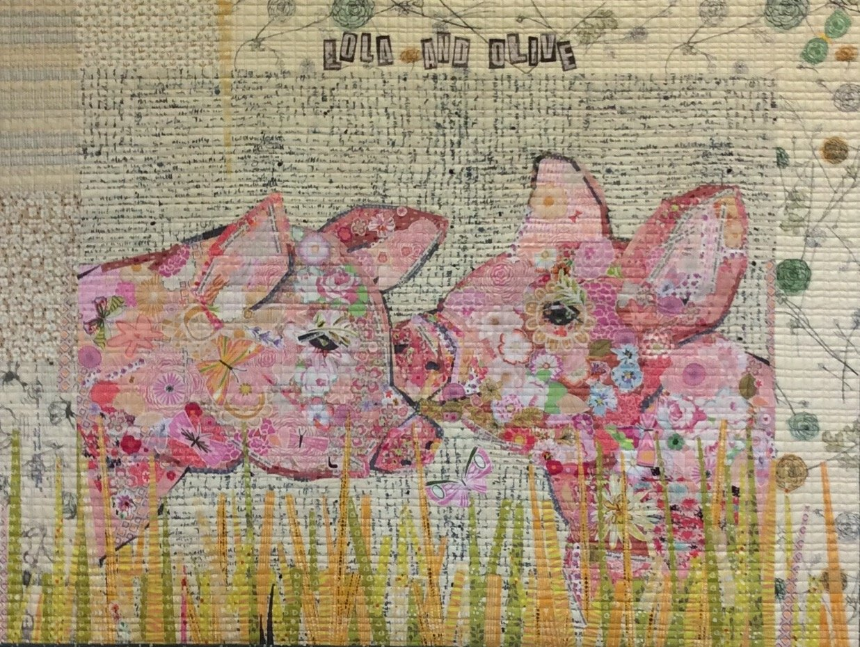 Lola and Olive Floral Collage Pattern by Laura Heine
