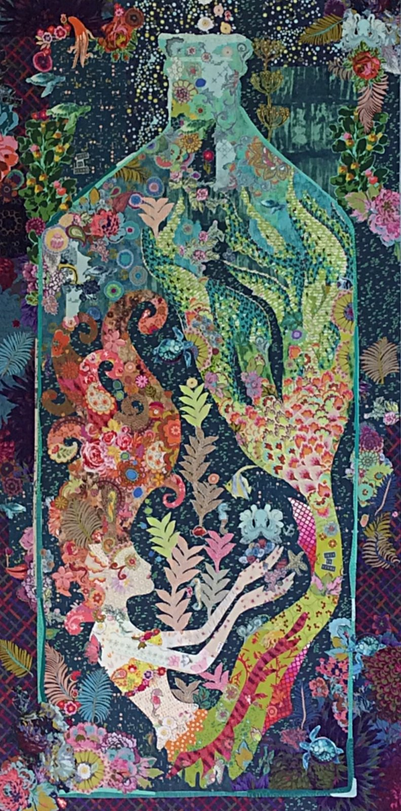 Sirene mermaid collage pattern by Laura Heine