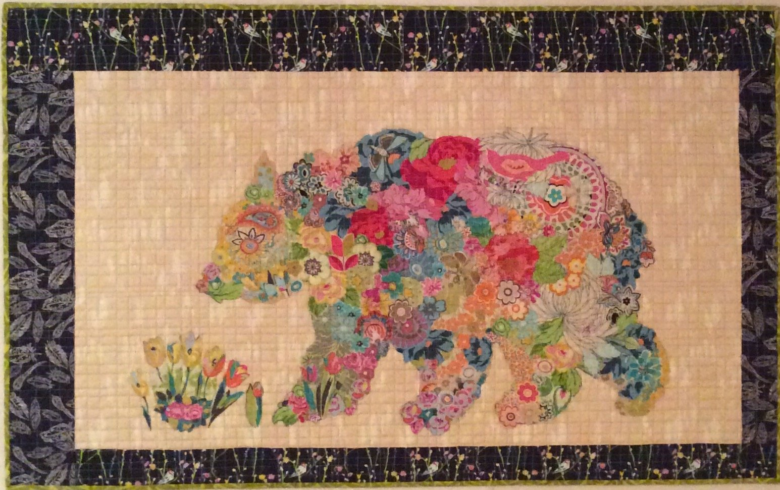 Paisley Bear Collage Quilt Pattern by Laura Heine