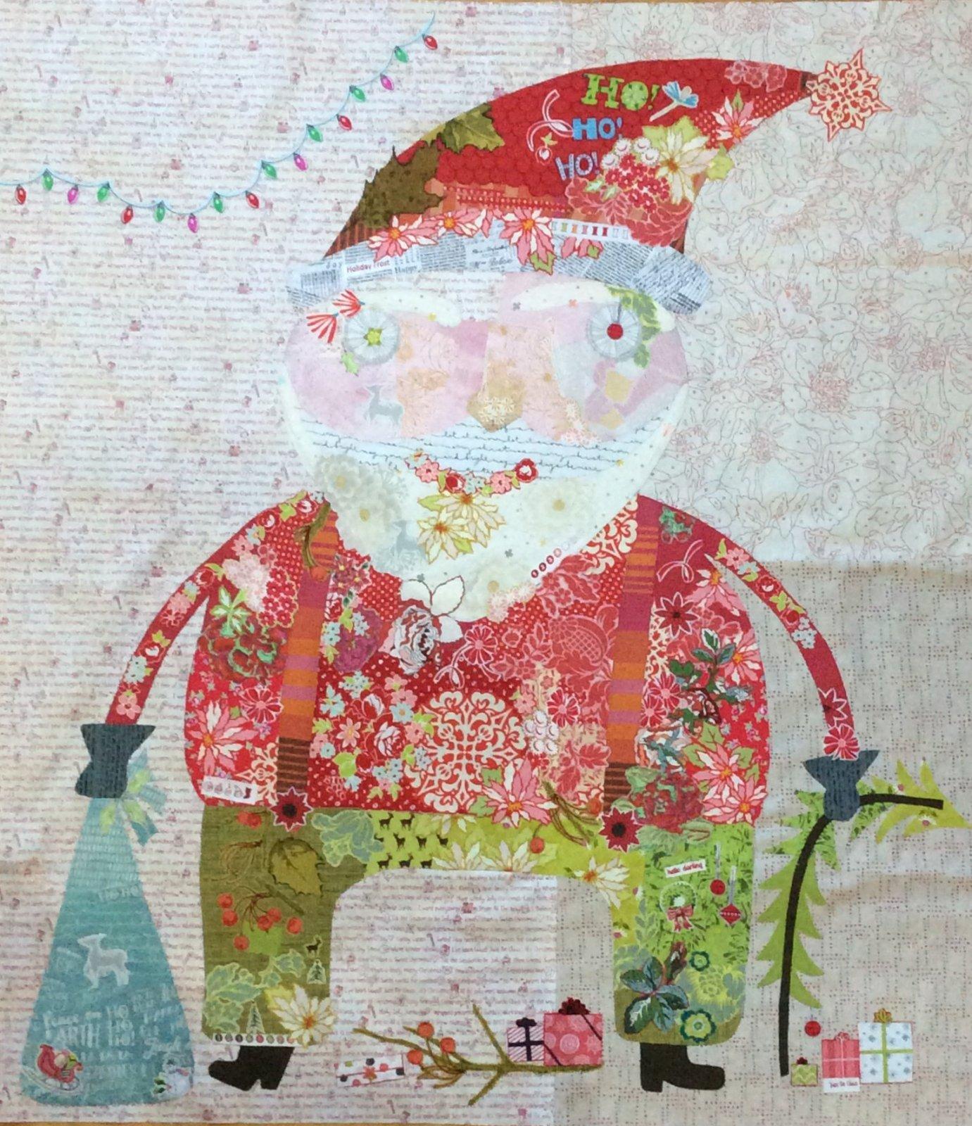 Nick Santa Collage Pattern By Laura Heine