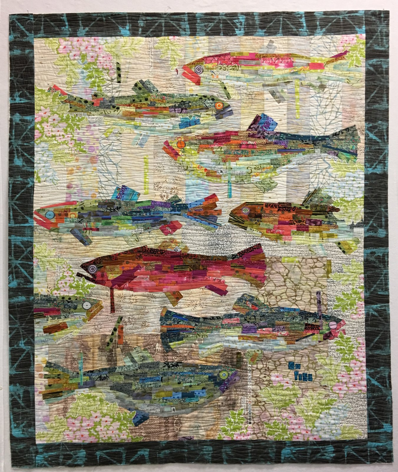put colorful quilt it background looks fish the to kissing together how this white be jayne as quilting like serve s a block here will fun room for purple see