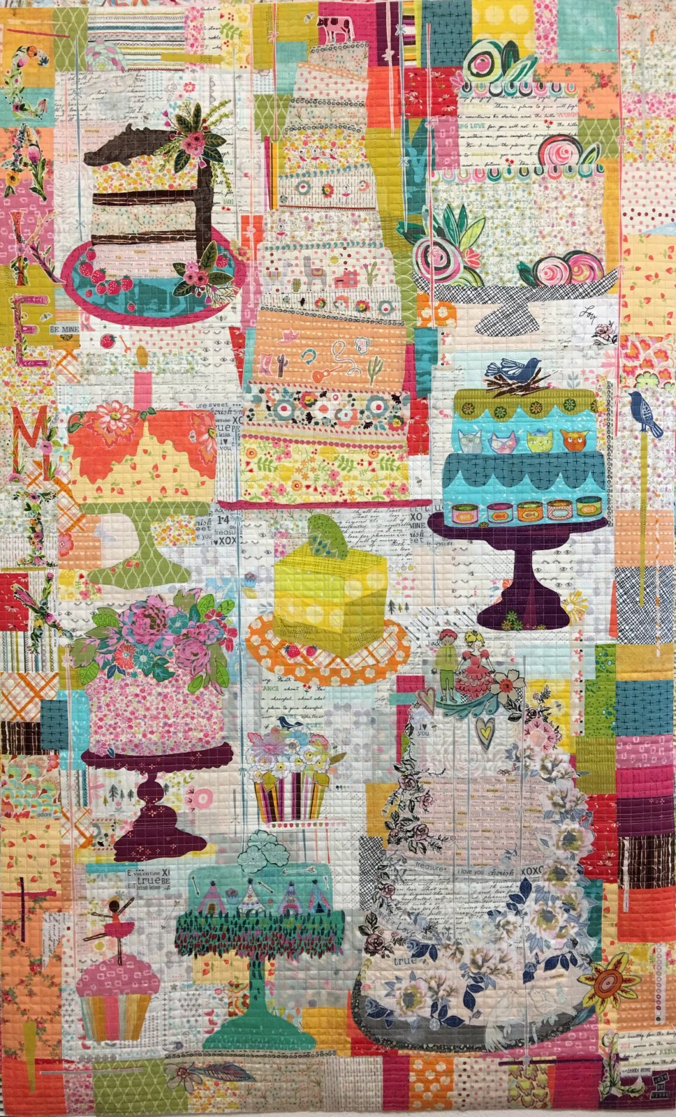 000FWLHCM -  Cake Mix Collage Pattern by Laura Heine