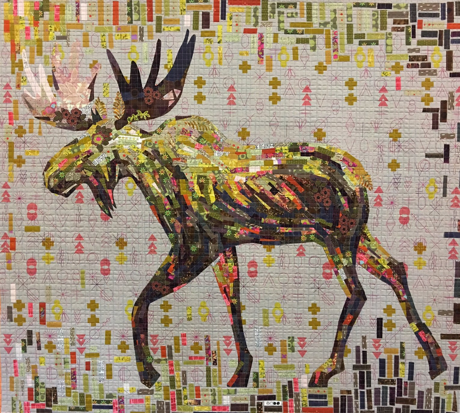 Montgomery Moose Collage Kit by Laura Heine