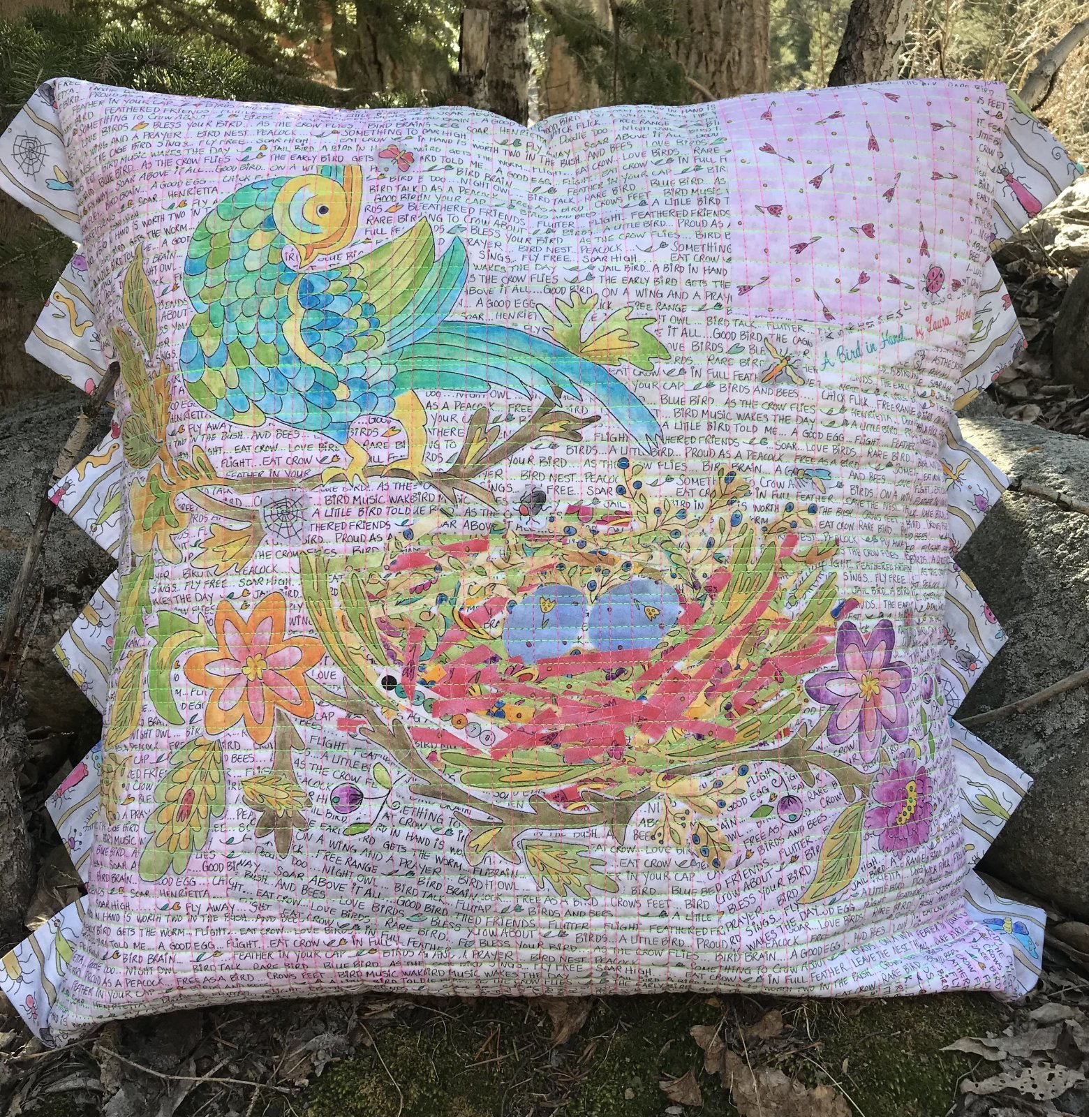 Nesting Collage Pillow Pattern by Laura Heine