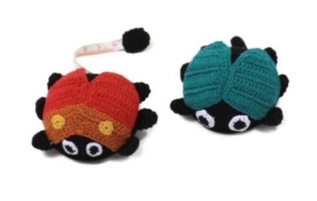 Crocheted Ladybug Tape Measure