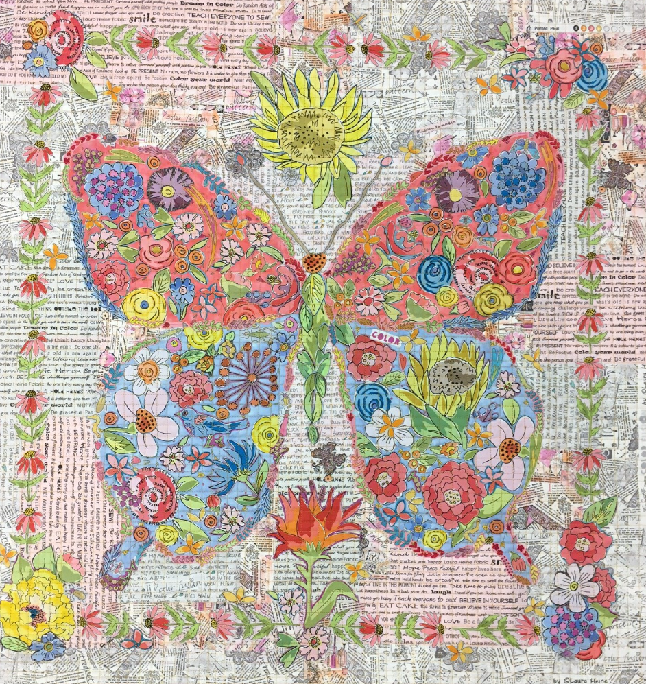 Flowerfly... Butterfly Collage Kit by Laura Heine