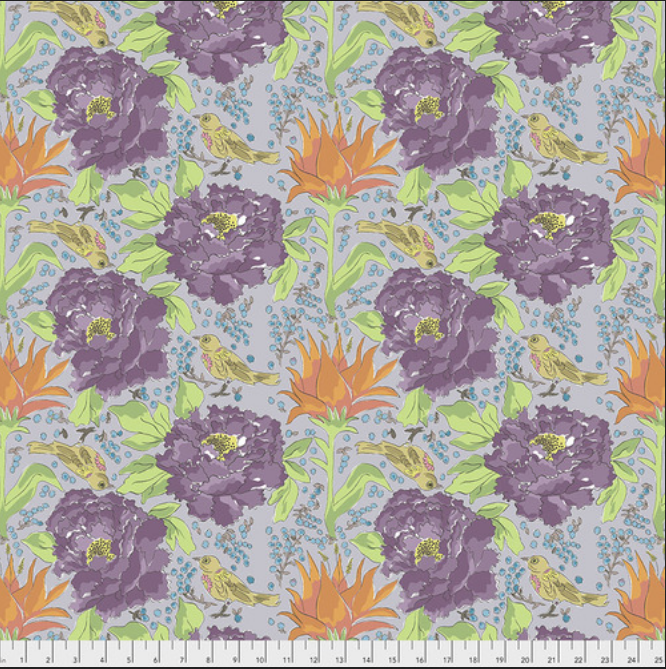 PWLH016 GRAY Color Fusion by Laura for FreeSpirit Fabrics. 100% cotton 43 wide