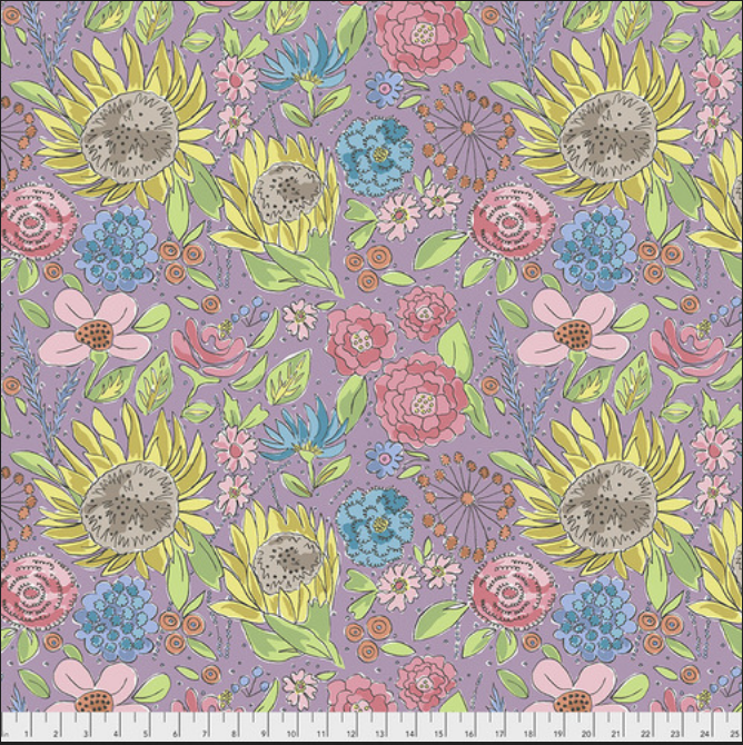 PWLH017 Lavender Color Fusion by Laura Heine for FreeSpirit Fabrics. 100% cotton 43 wide