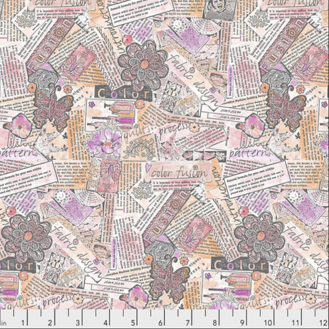 PWLH015 Pink Color Fusion by Laura Heine for FreeSpirit Fabrics. 100% cotton 43 wide
