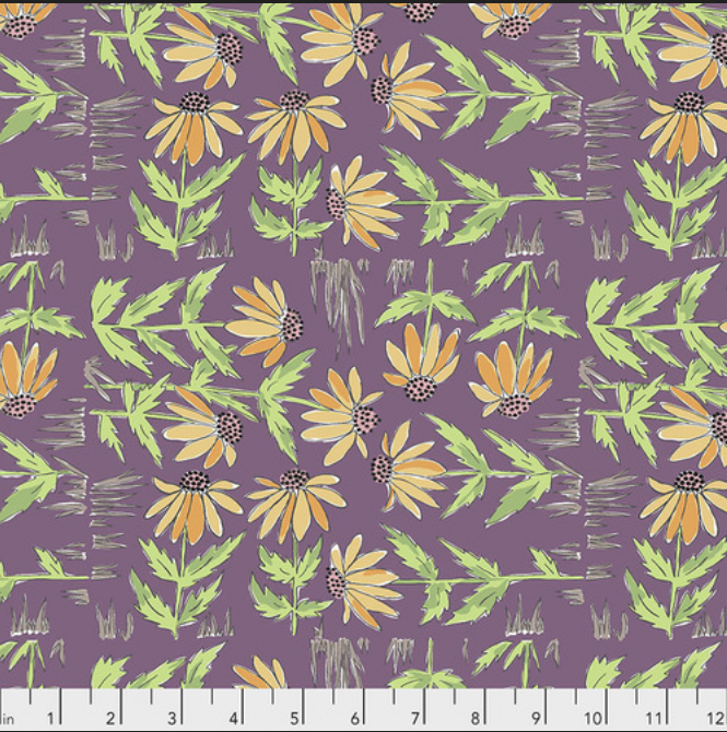 PWLH018 Plum Color Fusion by Laura Heine for FreeSpirit Fabrics. 100% cotton 43 wide