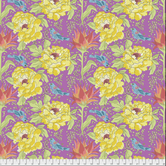 PWLH016 Violet Color Fusion by Laura Heine for FreeSpirit Fabrics. 100% cotton 43 wide