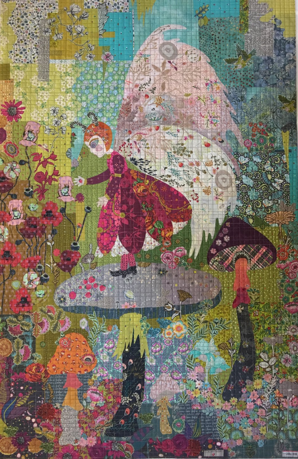 Meadow Fairy Collage Pattern by Laura Heine