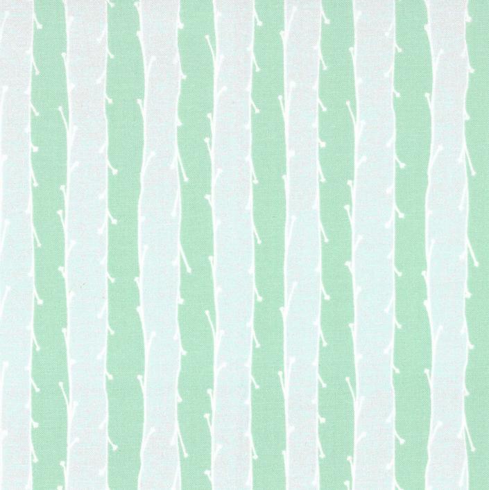 CX7511 Mint D Sprite Stripe for Michael Miller Fabrics. 100% cotton 43 wide