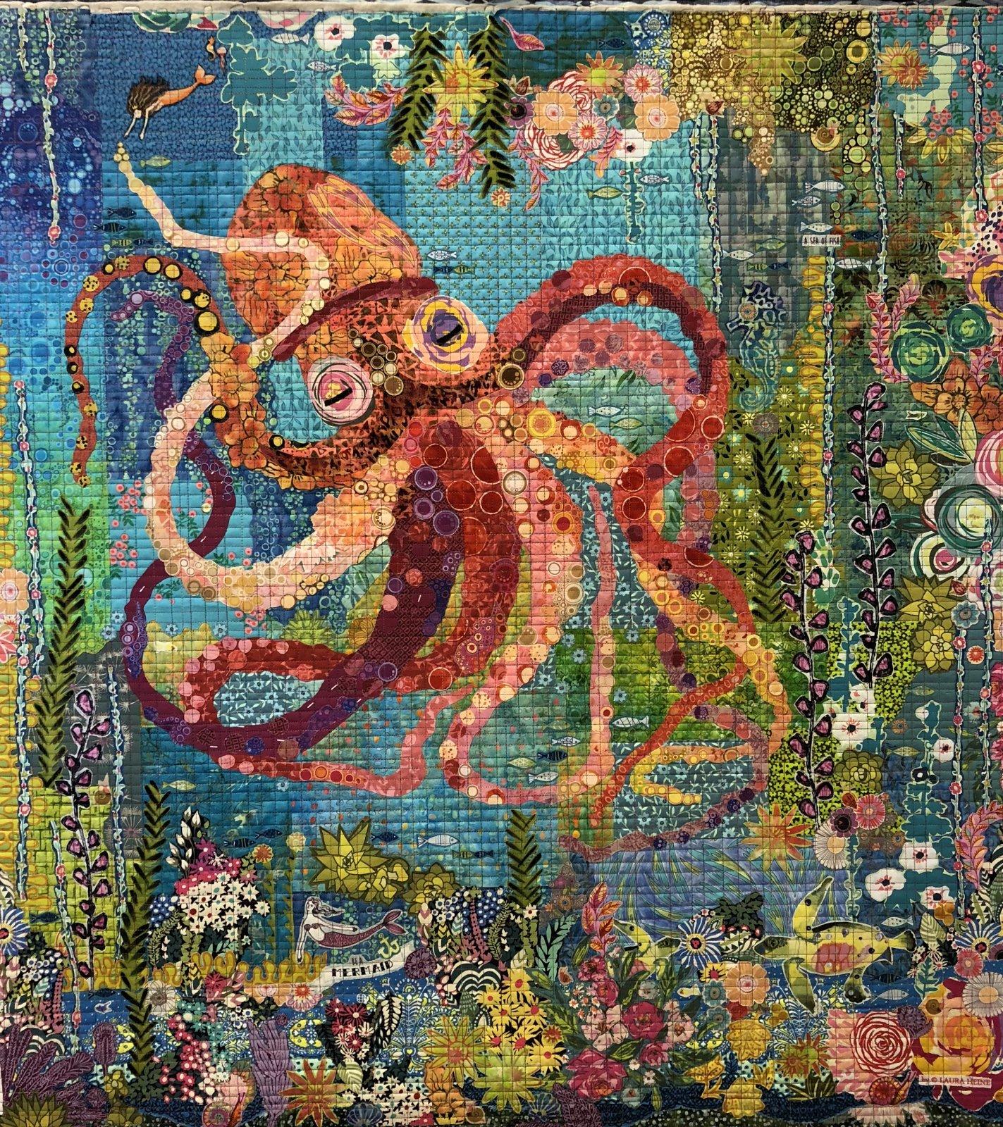 Octopus Garden Collage Pattern by Laura Heine