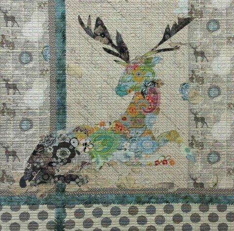Oh Deer Collage Quilt Pattern by Laura Heine