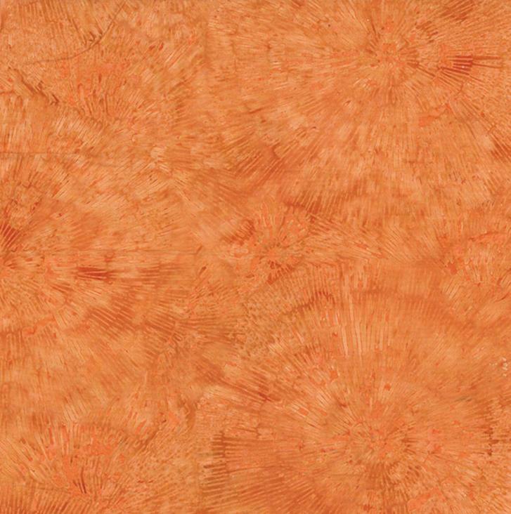 2130 13 Orange Bali Batik for Hoffman Fabrics.  100% cotton 43 wide