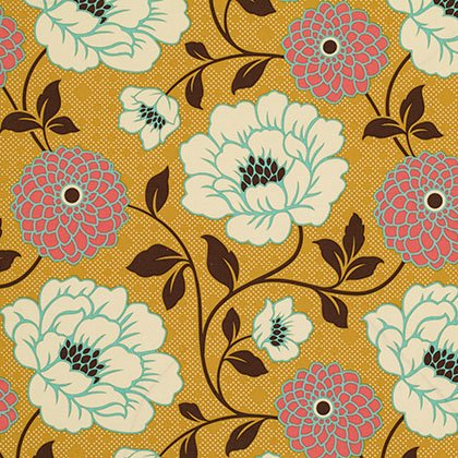 SAJD021 Honey Joel Dewberry Bungalow Sateen Dahlia For Free Spirit Fabrics 100% cotton 54 wide