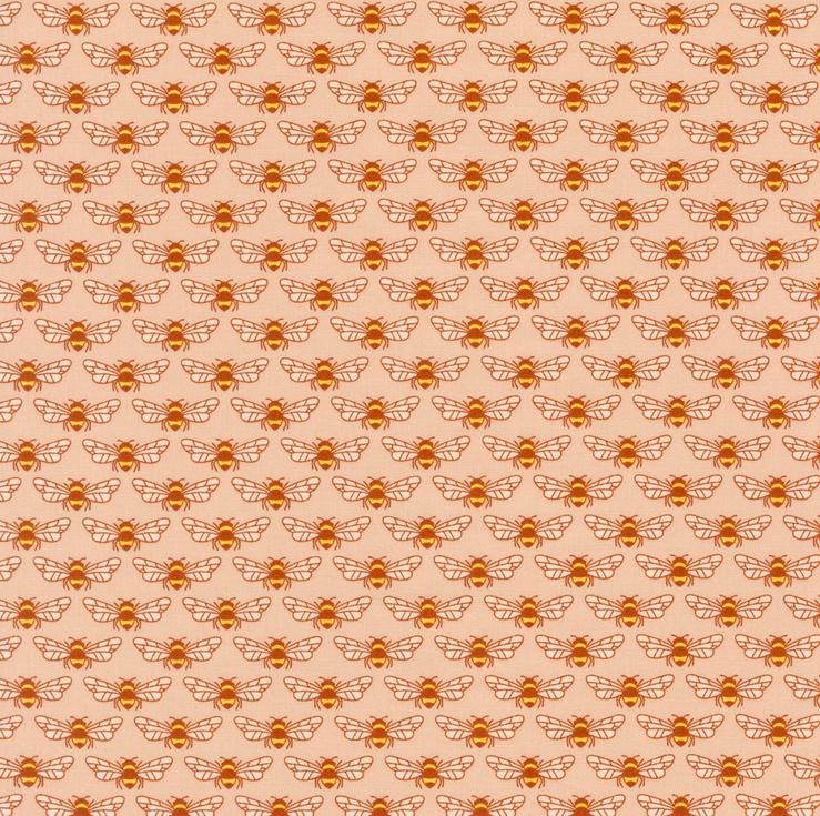 AZH 18093 144 PEACH Berry Season for Robert Kaufman Fabrics. 100% cotton 43 wide