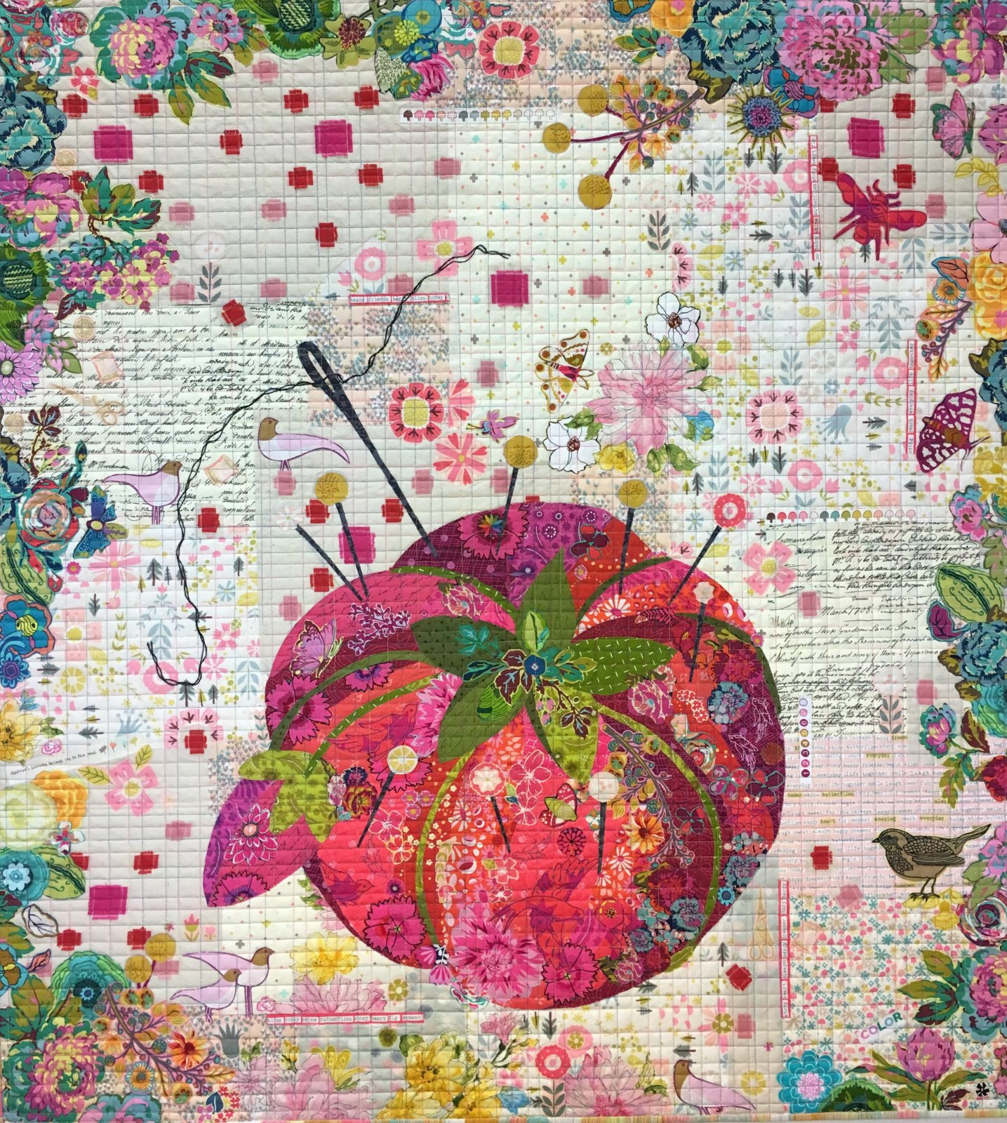 FWLHPIN -Pincushion Collage Kit by Laura Heine