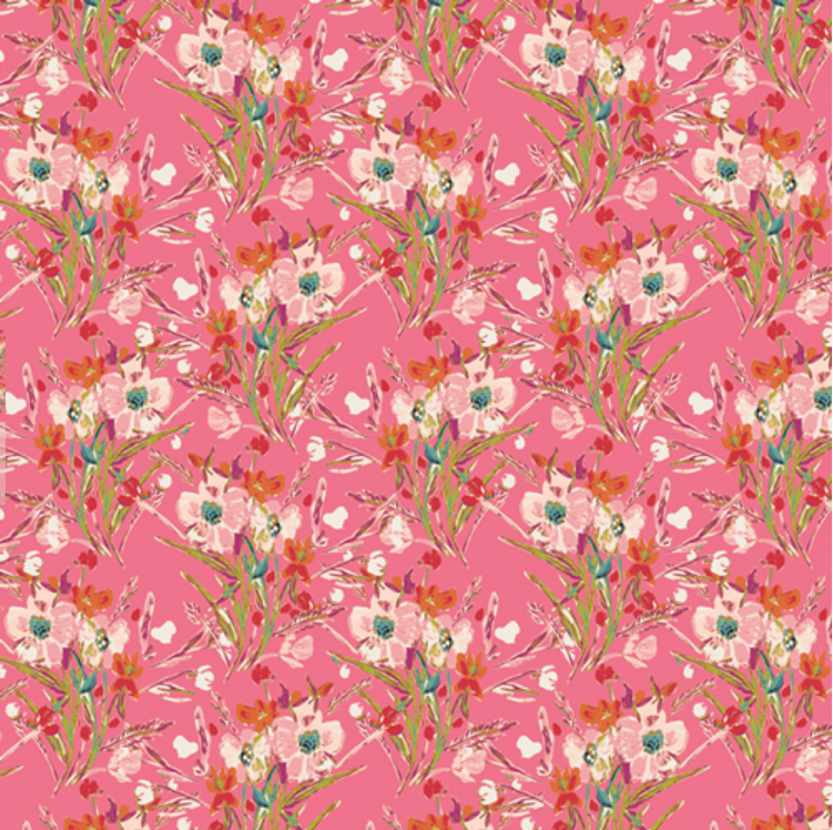 K 54729 Rosette Square Knit by Bari J. for Art Gallery Fabrics. 95% cotton 5% spandex 58-60 wide (WIDE BACK)
