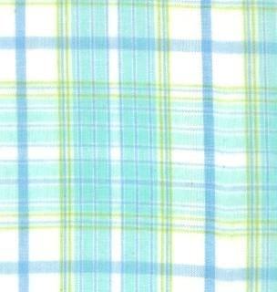 12126 18 Aqua Sprig Wee Plaid Brushed Wovens for Moda Fabrics