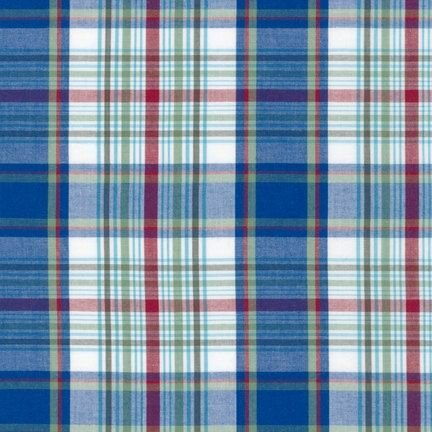 CUD 13072 4 Blue Newport Plaids by Robert Kaufman Fabrics