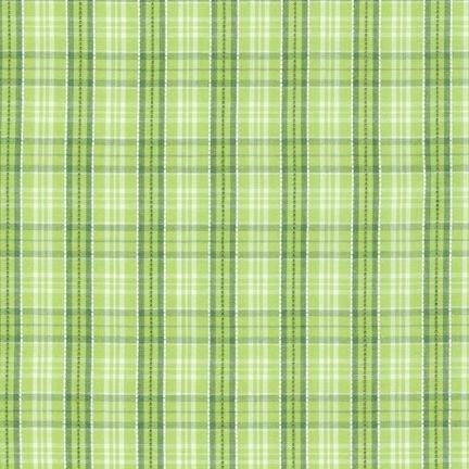 CUD 13074 50 Lime Newport Plaids for Robert Kaufman Fabrics
