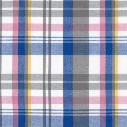 CUD 13077 4 Blue Newport Plaids by Robert Kaufman Fabrics