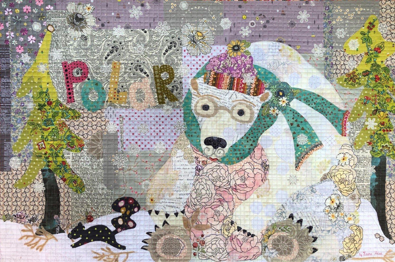 Polar Collage Quilt Kit by Laura Heine.