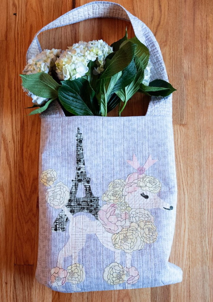 Poodle Bag Collage Pattern by Laura Heine