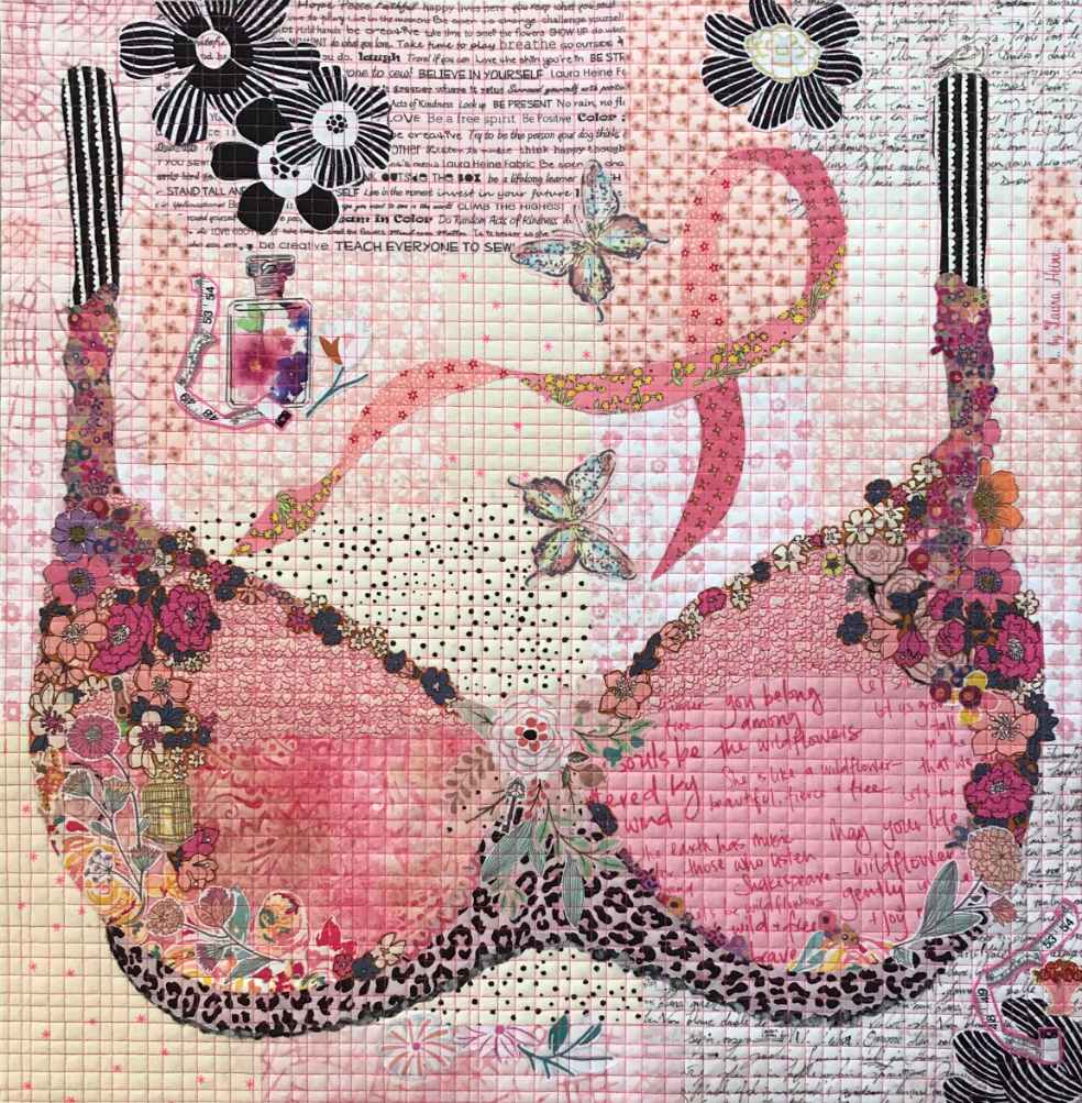 Pretty in Pink Collage Quilt Pattern by Laura Heine.