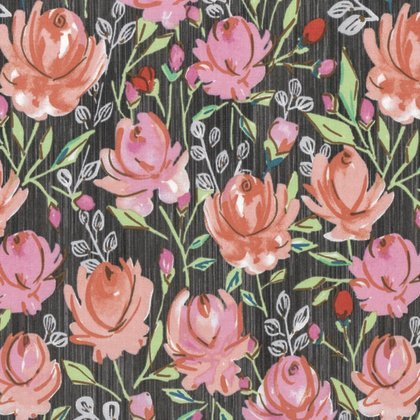 PWDF260 CORAL  MARQUESAS BY DENA DESIGNS  ROSETTE  FOR FREE SPIRIT FABRICS
